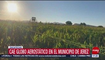 FOTO: Cae globo aerostático en Zacatecas, 28 octubre 2019
