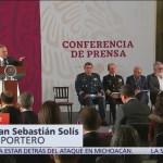Califica AMLO como lamentable emboscada en Michoacán