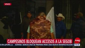 Foto: Campesinos Mantienen Plantón Frente Segob Hoy 16 Octubre 2019