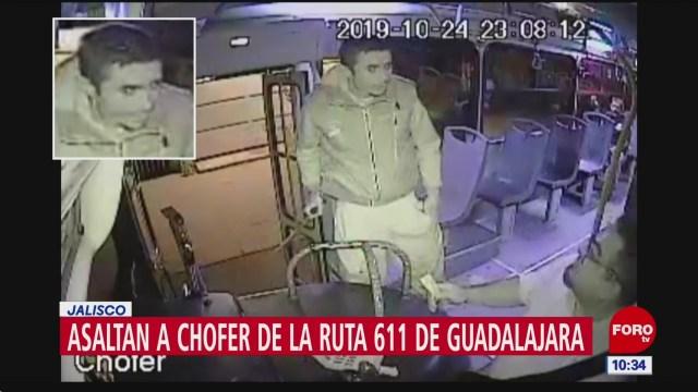 Captan asalto de chofer de transporte público en Guadalajara