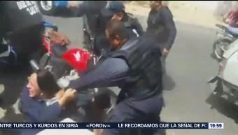 Foto: Pelea Jóvenes Policías Neza Edomex Hoy 10 Octubre 2019