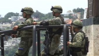 Los elementos de la SEMAR llegan a reforzar la vigilancia, 05 de octubre de 2019, (Noticieros Televisa)