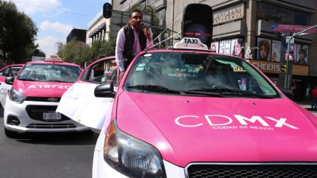Imagen: Se espera una concentración durante el día por parte de Taxistas Unidos por México, 21 de octubre de 2019 (Rogelio Morales /Cuartoscuro.com)