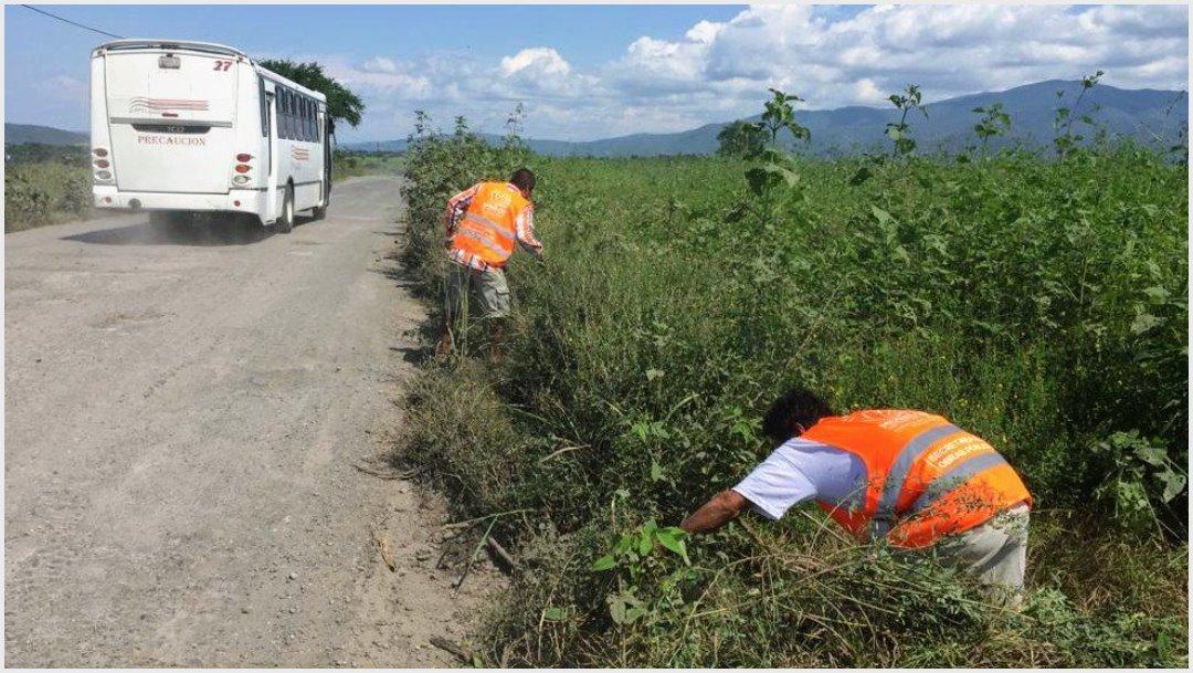 Foto: El gobierno de Morelos ya repara la carretera exhibida por AMLO, 5 de octubre de 2019 (Fidel Giménez Valdés)