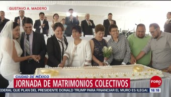 FOTO: Casi 400 personas se casaron en la Gustavo A. Madero, 13 octubre 2019