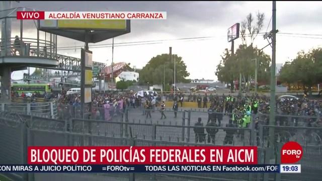 Foto: Policías Cdmx Cita Bloqueo Aicm Hoy 4 Octubre 2019