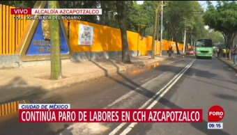 CCH Azcapotzalco, en paro por 2 de octubre