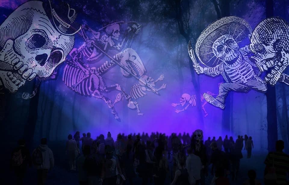 """Foto """"Celebrando la eternidad"""": El primer recorrido nocturno en el Bosque de Chapultepec 30 octubre 2019"""