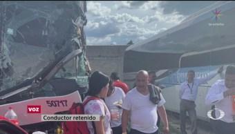 Foto: Choferes Narran Trato Normalistas Tenería Edomex 10 Octubre 2019
