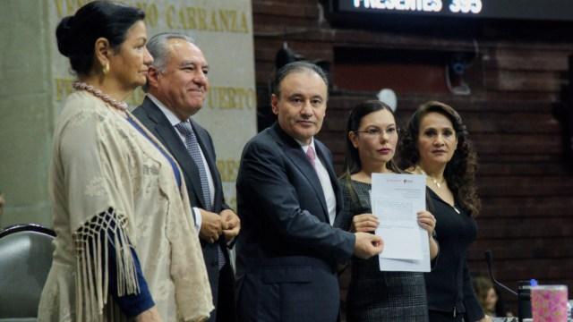 Alfonso Durazo compareció en la Cámara de Diputados por la Glosa del Primer Informe de Gobierno. (MARIO JASSO /CUARTOSCURO)