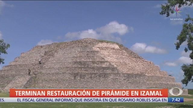 Concluye restauración de pirámide maya Kinich Kakmó, en Yucatán