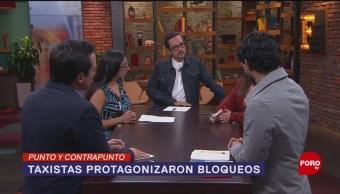 Foto: Conflicto Bloqueos Movimiento Nacional Taxista CDMX 8 Octubre 2019