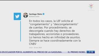 Congelan cuentas del exministro Eduardo Medina Mora