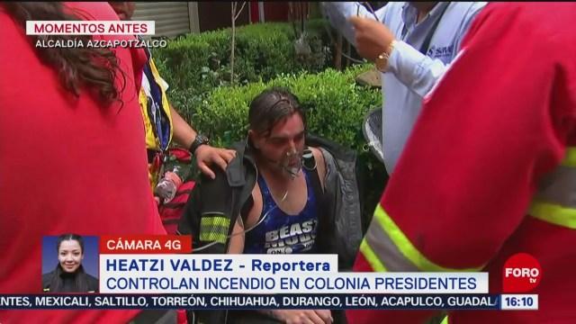 FOTO: Controlan incendio en unidad habitacional en Azcapotzalco, 26 octubre 2019