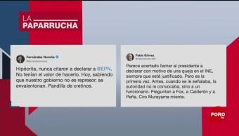 Foto: Controversia Comparecencia Ine Amlo Paparrucha Día 1 Octubre 2019