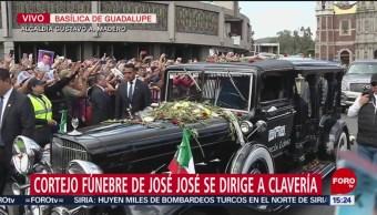 FOTO: Cortejo José José Se Dirige Colonia Clavería,