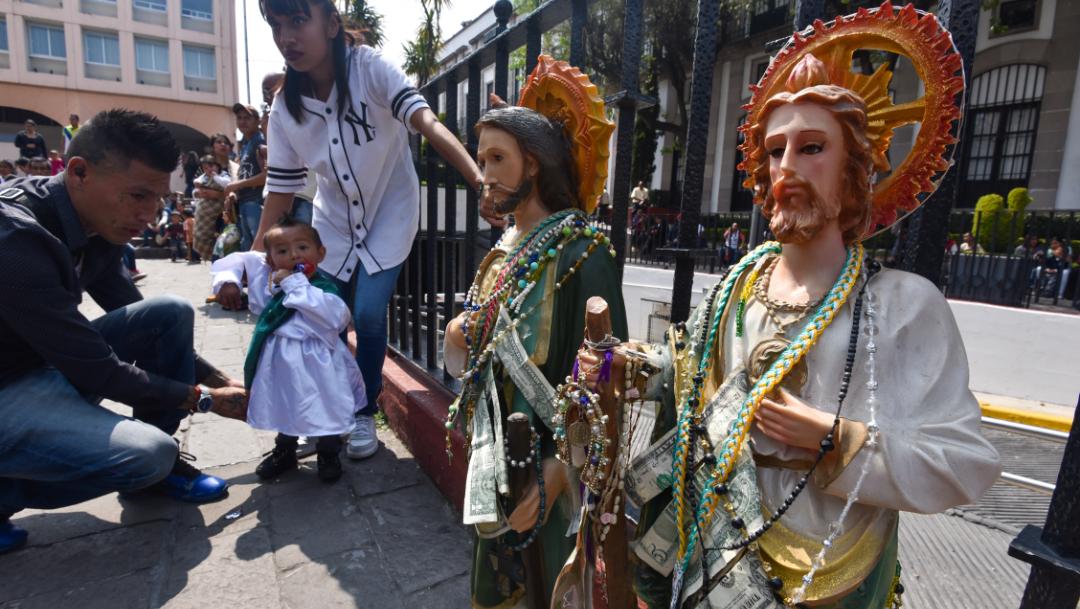 Devotos veneran a San Judas Tadeo