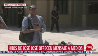 Cuerpo de José José sí está en Miami, dice José Joel