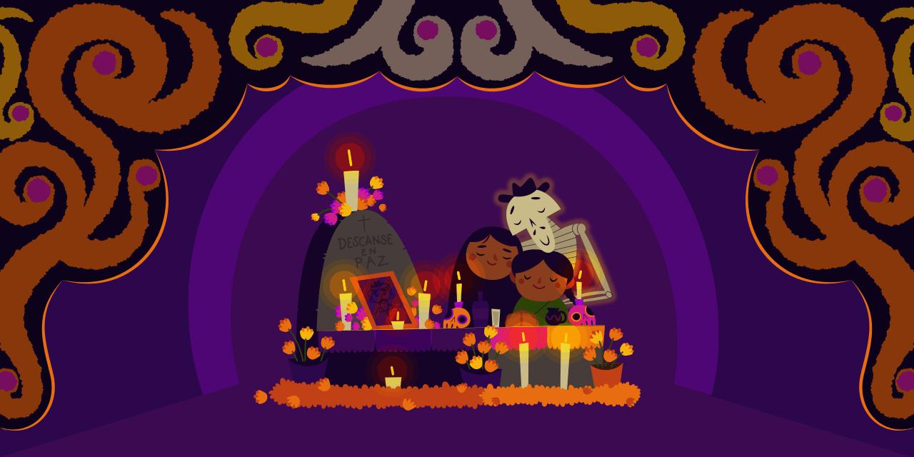 Celebración del día de muertos