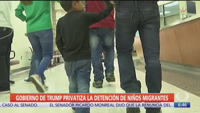 Denuncian que Trump ha privatizado la detención de niños migrantes
