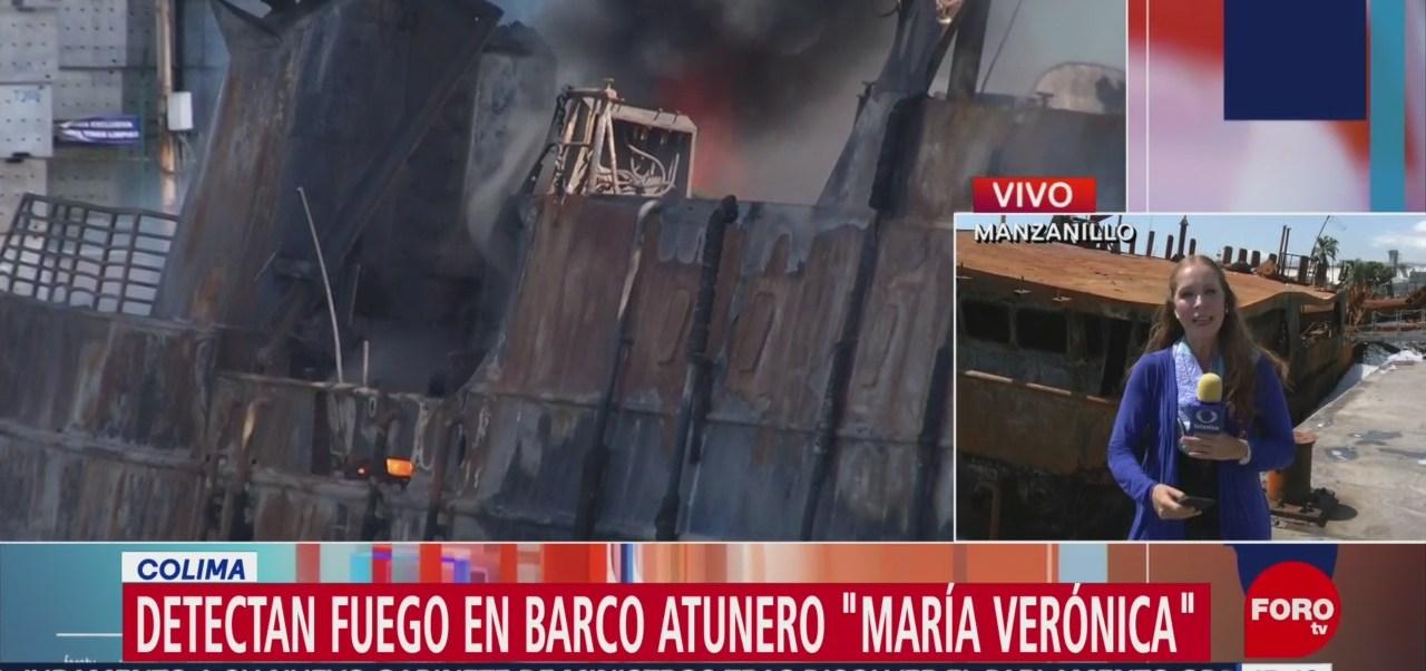FOTO: Detectan fuego barco atunero Colima,