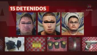 Foto: Detienen 15 Presuntos Delincuentes Celaya Guanajuato 7 Octubre 2019