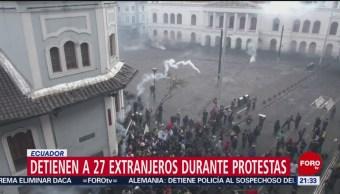 Foto: Detienen 27 Extranjeros Disturbios Ecuador 9 Octubre 2019