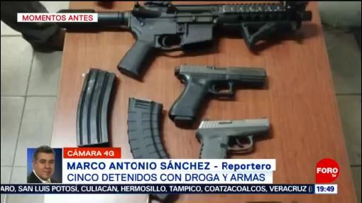 Foto: Detenidos Cinco Personas Drogas Armas Cdmx Hoy 28 Octubre 2019