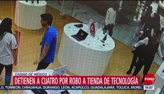 Foto: Detienen Cuatro Menores Edad Asalto Tienda Tecnología 10 Octubre 2019