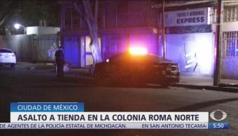 Detienen a delincuentes por asalto a tienda en colonia Roma Norte, CDMX