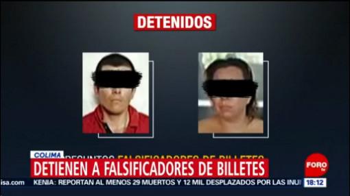Foto: Falsificadores Billetes Detenidos Tecomán Colima 24 Octubre 2019