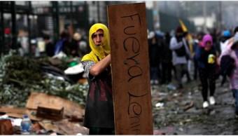 Imagen: Autoridades de Ecuador ya dialogan con los manifestantes, 13 de octubre de 2019 (EFE)
