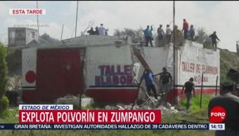 FOTO: Dos muertos seis lesionados tras explosión Zumpango Edomex