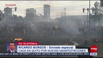 FOTO: Ecuador tuvo este sábado un despertar mucho más violento, 12 octubre 2019