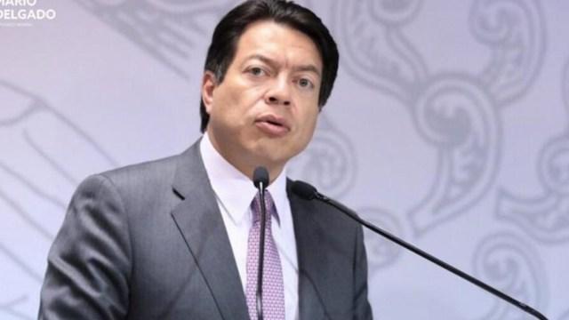 Mario Delgado ofreció una conferencia de prensa para hablar sobre su propuesta, 02 octubre del 2019 (Twitter @MarioDelgado)