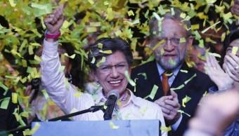 Foto: Claudia López, primera alcaldesa electa de Bogotá. 28 Octubre 2019