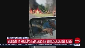 FOTO: CJNG asesinó 14 policías estatales Michoacán