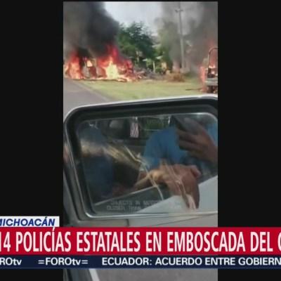 El CJNG asesinó a 14 policías estatales en Michoacán