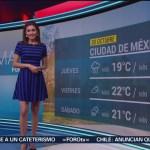 FOTO: clima con Daniela Álvarez 30octubre 2019