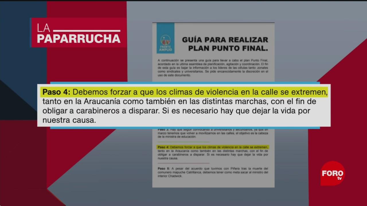 Foto: Gobierno Chile Noticias Falsas Día 22 Octubre 2019