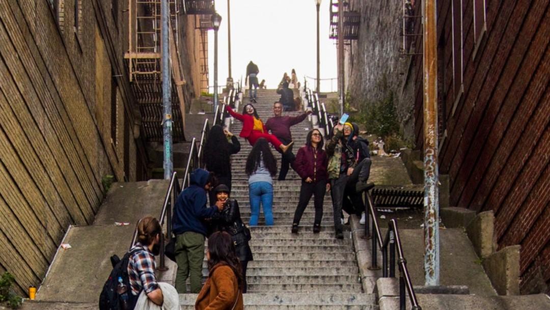 Foto: Escaleras del Guasón se convierten en atractivo turístico en Nueva York
