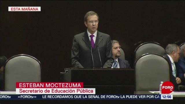 Esteban Moctezuma comparece ante diputados por glosa del I Informe de Gobierno