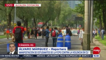 FOTO: Estudiantes UNAM Marchan Insurgentes
