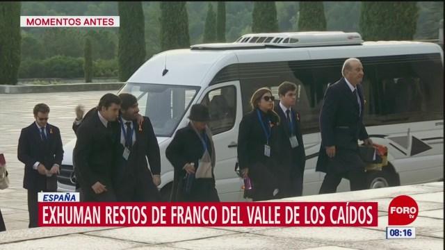 Exhuman restos de Francisco Franco del Valle de los Caídos
