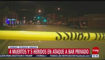 FOTO: Fallecen al menos cuatro personas tras tiroteo en bar de Kansas City, 6 octubre 2019