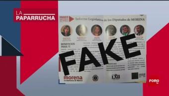 Foto: Informe Legislativo Diputados Morena Noticias Falsas 28 Octubre 2019