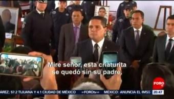 Foto: Familias Policías Asesinados Exigen Justicia Silvano Aureoles 15 Octubre 2019