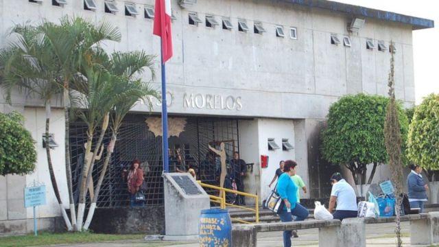 Foto: Entrada del Centro de Reinserción Social (Cereso) de Atlacholoaya, Morelos
