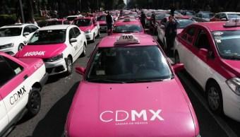 Foto: Cientos de taxistas bloquean Avenida Paseo de la Reforma en la Ciudad de México. Cuartoscuro