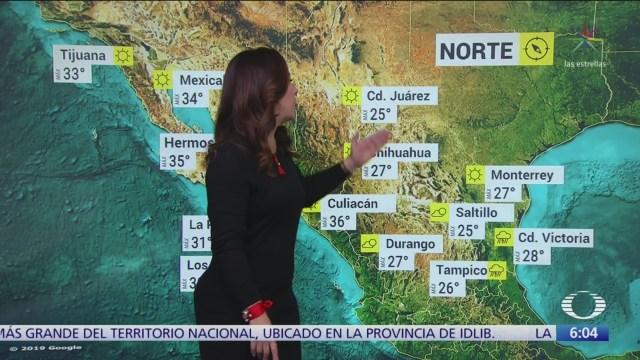 Frente frío 6 provocará lluvias intensas en seis regiones de México